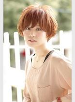 かわふわマッシュボブ(髪型ショートヘア)