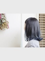 グラデーションカラー(髪型ミディアム)