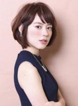エアリーショートボブ(髪型ボブ)