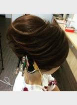 祭りのヘアセット(髪型ボブ)