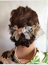 華やかアップスタイル(髪型ロング)