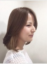 ミディアムボブスタイル(髪型ボブ)