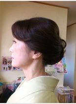 ミセス アップ(髪型セミロング)