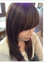 柔らかな質感&立体感(髪型ロング)