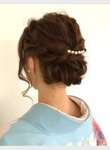 大人の上品ヘアセット(髪型ロング)