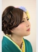 質感ルーズなまとめ髪(髪型ロング)