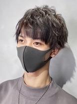 韓流マイルドグレージュ(髪型メンズ)