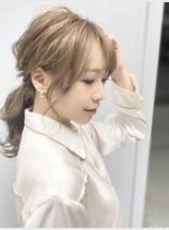 女子力↑↑ヘアアレンジ(髪型ボブ)