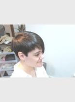 ナチュラルストレート(髪型ショートヘア)