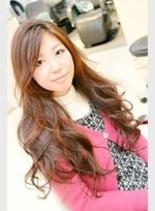 ナチュラルパーマロング(髪型ロング)