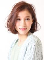 柔らかシフォンボブ(髪型ボブ)