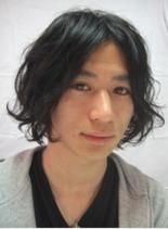 前上がりのボブスタイル(髪型メンズ)