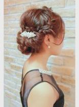 編み込みヘアセット(髪型ロング)