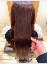 オイル縮毛矯正+水素ケア(髪型ロング)
