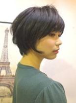 ナチュボブ(髪型ショートヘア)