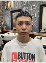 クロップ スキンフェード(髪型メンズ)
