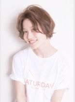 大人シースルーショート(髪型ショートヘア)