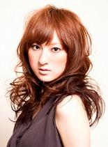 コットンウェーブミディ(髪型セミロング)
