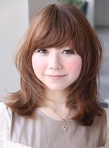 ヌーディーマッシュミディー(髪型セミロング)