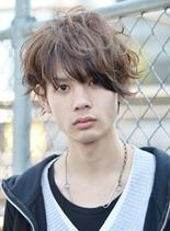 外国人風 2ブロックミディアム (髪型メンズ)