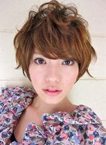 ふんわりキュートなショートボブスタイル(髪型ショートヘア)