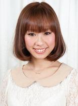 Aラインミディアムボブ(髪型ボブ)