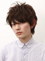 ナチュふわショートミディ(髪型メンズ)