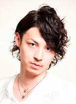 ミディアムウェーブ(髪型メンズ)